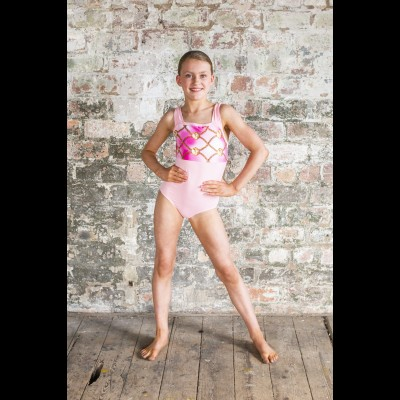 Pink Bow Strap Leotard