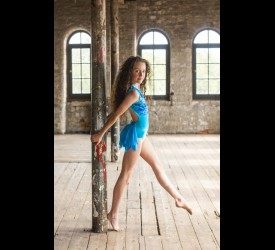 Carmen Sequin Dreams Turquoise Leotard