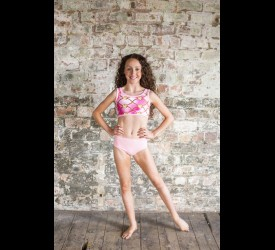 Pink Chain Open Front Leotard