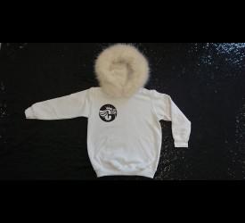White LTD EDN Fur Hood Jumper