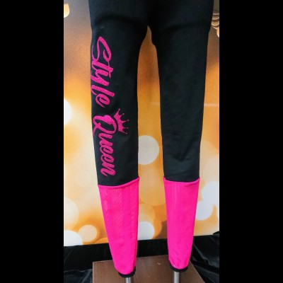 Pink Style Queen Panel Leggings