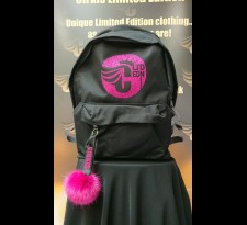 Kids Black Rucksack With Pom
