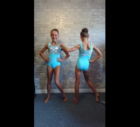 Aqua Chain Leotard